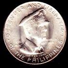 1947 PHILIPPINES US WWII DOUGLAS MACARTHUR 50 centavos SILVER coin UNC