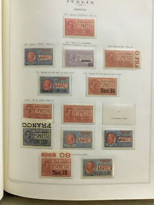 Italy Regno - Extended Collection on Album pages Part 6 -Ser. 1903-1945 cv 3200$