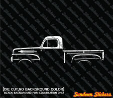 2X Car silhouette stickers - for 1952 Ford F-1 1st gen F1 | vintage pickup truck
