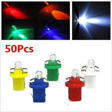 50X T5 B8.5D 5050 SMD LED Car Instrument Dashboard Light Single Bulb,Round Head