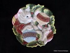 Fitz & Floyd Essentials Kristmas Kitty Cat Canape Plate Candy Dish Wall Decor