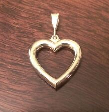 """Charm Pendant - 1.2"""" Inch Length 14K Yellow Gold Solid Polished Heart"""