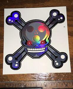 "Medium Size Super Computer Robot Skull Inline Skate Sticker - Arlo 3.5"" x 3.5"""