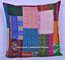 "24"" ETHNIC COLORFUL SILK VINTAGE TOSS PILLOW SHAM CUSHION COVER THROW INDIAN"