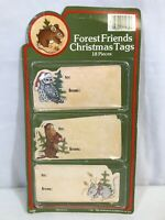 Vintage 1982 Forrest Friends Animals Christmas Gift Tags 18 Pieces NIP
