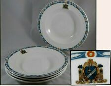 4 Syracuse China Encanto Rimmed Soup Bowls Historic HOTEL JAMESTOWN Logo NY