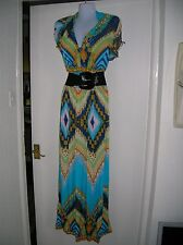 NEW WITH TAGS LADIES 10 12 MAXI DRESS SUMMER HOLIDAY CRUISE PARTY NIGHT OUT SUN