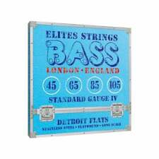 Elites Detroit Flats 45-105 Stainless Steel Flatwound Bass Strings, Long Scale