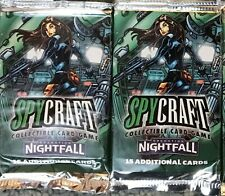 2 SEALED SPYCRAFT CCG Operation Nightfall Boosters by AEG NEW