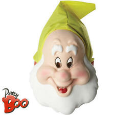 Adults Happy Seven Dwarfs Mask Disney Snow White Fancy Dress Costume Accessory
