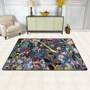 MARVEL All Heros Rugs Anti-Skid Area Rug Living Room Bedroom Floor Mat Carpet