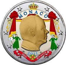 Monaco 2 Euro 2011 Fürst Albert II Grimaldi Prinz von Monaco  Münze in Farbe