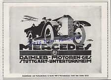 STUTTGART-UNTERTÜRKHEIM, Werbung 1918 Daimler-Motoren-Gesellschaft Mercedes Auto