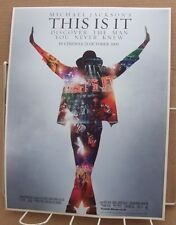 MICHAEL JACKSON THIS IS IT(2009) advance poster