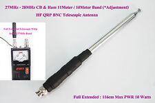 27MHz - 28MHz CB & Ham 11Meter 10Meter Band HF QRP FT-817 BNC Telescopic Antenna
