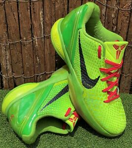 "RARE🔥 Nike Zoom Kobe 6 ""Grinch"" Christmas 2010 collectors shoes US 12 UK 11 E46"