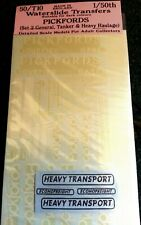 Pickfords Econofreight 1:50 Transfers 50-T10 Colour O Scale Langley Model Decals