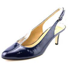 Zapatos de tacón de mujer de tacón medio (2,5-7,5 cm) de color principal azul de charol