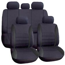 Universal Car Seat Covers Full Set All Black Washable Airbag to fit Alfa Romeo