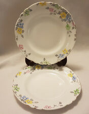 2 x Rare Crown Staffordshire Vintage hand painted China side plates