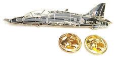 Royl Navy Hawk Jet Aeroplane Side View Enamel Lapel Pin Badge