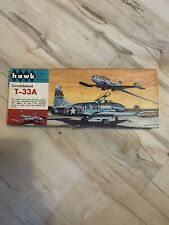 Vintage Hawk 1/4 Scale Lockheed T-33A Plastic Model Kit Used