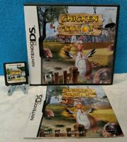 Chicken Shoot (Nintendo DS, 2007) with Manual - Tested & Working