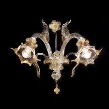 La giudecca applique en verre de Murano 2 lumières cristal or
