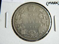 1931 Canada Silver 50 Cent Piece-George V--Lower Mintage-19-245
