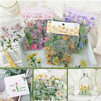 40pcs DIY Paper Diary Flower Stickers For Korean Japanese Journal Scrap booking
