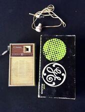 Vintage General Electric All Transistor Radio P1758 Original Box Earphone