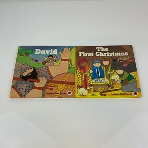 Ladybird Bible Stories Books x 2 First Christmas & David Hardback Square Format