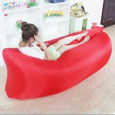 Inflatable Air Sofa Bed Lazy Sleeping Camping Bag Beach Hangout Couch Windbed R^
