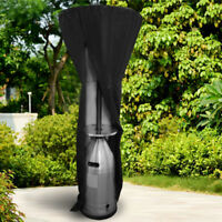 Outdoor Black Patio Gas Heater Cover Protector Garden Polyester Waterproof