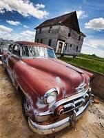 VINTAGE CAR AUTOMOBILE RED CLASSIC PHOTO ART PRINT POSTER PICTURE BMP2215B