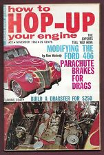 """How to Hop Up Your Engine MagazineNovember 1962 Issue 8"""" x 5 1/4""""  FREE SHIPPING"""