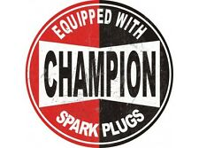 NEW Champion Large Round tin metal sign