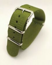 18 mm Nato watch Strap Correa Reloj Nylon Watchband Verde Green