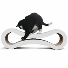 Dual Layer Kitten Cat Scratcher Pet Claw Scratching Post CardBoard Toy White