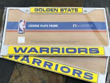 2 (TWO) Matching, Golden State Warriors Chrome Laser Cut License Plate Frames
