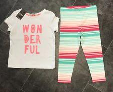 BNWT George Girls 2 Piece T Shirt & Leggings Set. Age 3-4 Years