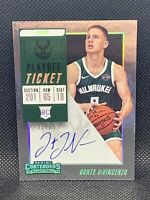 2018 Panini Contenders Playoff Ticket /65 Donte DiVincenzo Rookie Auto HOT