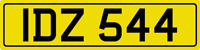 DATELESS PRIVATE NUMBER PLATE IDZ 544 CHERISHED REG COVER NON DATING IAN IAIN ID