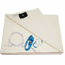 Earthing Ground Half Sheet for Better Sleep Energy and EMF Recovery 96x23 inch