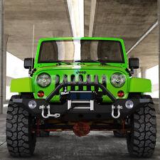 JK Front Bumper W/Winch Plate & OE Fog Light Hole & D-rings 07-17 Jeep Wrangler