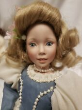 """Dianna Effner Porcelain Storybook Doll by Edwin Knowles 8"""" Cinderella in Gown"""