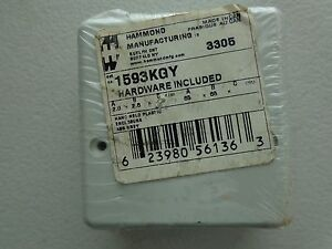 "Hammond 1593KGY Enclosures, Boxes, & Cases ABS, Instrument 2.6x2.6x1.1"" Grey"