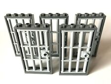 Tür Rahmen dunkelgrau 1x4x6 mit Gittertür perldunkelgrau  60596 60621 NEU LEGO