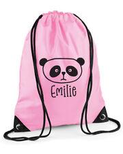 Personalised Panda PE Kit/Gym Bag/Swimming Kit Bag, Drawstring, Choice of colour