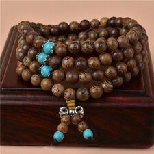 New Tibetan Sandalwood Buddhist Buddha 108 Prayer Beads Mala Bracelet Necklace